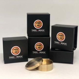 Okito coin box brass half dollar (B0005)