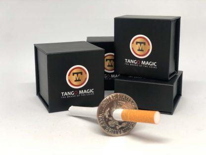 Cigarette thru coin Half Dollar two sides (D0015)