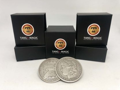 Flipper Coin PRO Gravity ELASTIC SYSTEM Morgan Dollar pure silver (D0191)