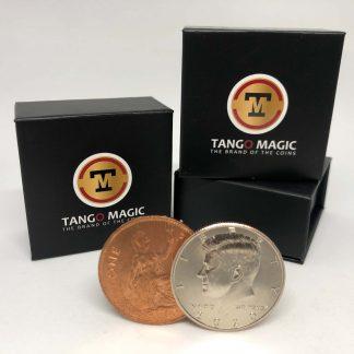 Flipper Coin PRO Gravity ELASTIC SYSTEM Half Dollar/English Penny (D0192)