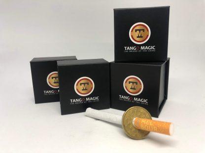 Cigarette or Pen thru coin 50 cents euro one side (E0009)