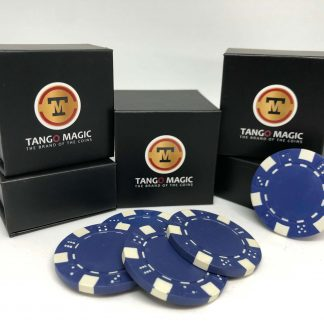 Expanded shell poker chip Blue, one expanded shell and 4 chips (PK001B)