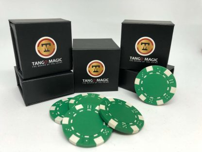 Expanded shell poker chip Green, one expanded shell and 4 chips (PK001G)