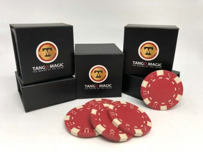 Expanded shell poker chip Reed, one expanded shell and 4 chips (PK001R)