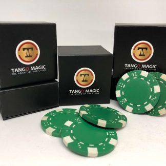TUC poker chip Green, include 3 regular chips (PK002G)