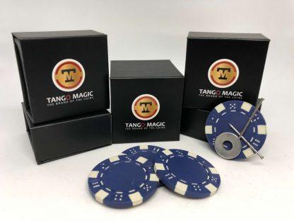 Magnetic poker chip Blue, include 3 more regular chips (PK003B)