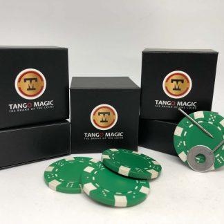 Magnetic poker chip Green, include 3 more regular chips (PK003G)